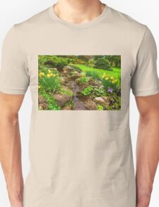 The Little Creek in the Garden - Impressions Of Spring T-Shirt