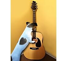 STRUMMING THE WAY MY HEART FEELS FOR U..CANINE STRUMMING GUITAR-JOURNAL- PICTURE AND OR CARD Photographic Print