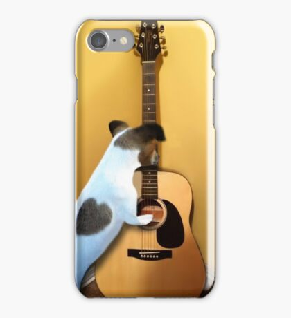 STRUMMING THE WAY MY HEART FEELS FOR U..CANINE STRUMMING GUITAR-JOURNAL- PICTURE AND OR CARD iPhone Case/Skin
