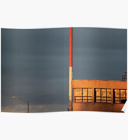 Sunlight & Dark Clouds Poster