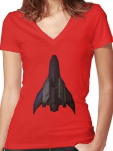 Stealth Cruiser Women's Fitted V-Neck T-Shirt
