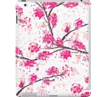 Pink cherry blossoms Oriental Sakura watercolor  iPad Case/Skin