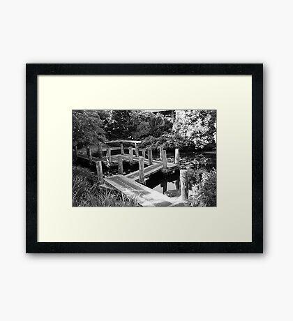 Japanese Bridge - Tasmanian Botanical Gardens Framed Print