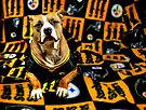 Steeler Pup by Shelley Neff