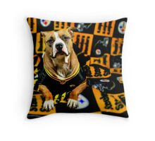 Steeler Pup Throw Pillow