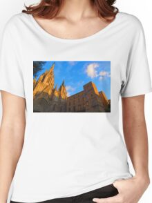 Warm Glow Cathedral - Impressions Of Barcelona Women's Relaxed Fit T-Shirt