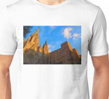 Warm Glow Cathedral - Impressions Of Barcelona Unisex T-Shirt