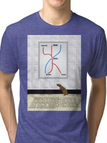 The Mannequin - Neck Tri-blend T-Shirt
