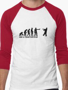 Man vs Zombie Evolution Men's Baseball ¾ T-Shirt
