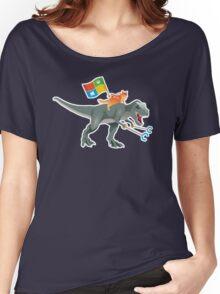 Ninjacat T-Rex Women's Relaxed Fit T-Shirt