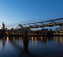 Reflecting on Bridges and Skylines - City of London, England, UK by Georgia Mizuleva