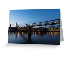 Reflecting on Bridges and Skylines - City of London, England, UK Greeting Card
