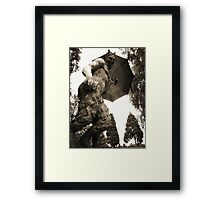 Faun about town - Newstead Abbey, Nottingham. Framed Print