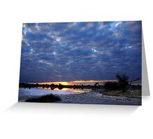 Blue sunset - Okavango Delta, Botswana Greeting Card