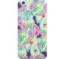 Bright Boho paisley pink blue green watercolor iPhone Case/Skin