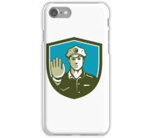Traffic Policeman Hand Stop Sign Shield Retro iPhone Case/Skin
