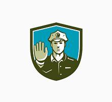 Traffic Policeman Hand Stop Sign Shield Retro Unisex T-Shirt