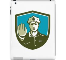 Traffic Policeman Hand Stop Sign Shield Retro iPad Case/Skin