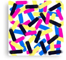 Modern bright abstract brushstrokes paint pattern Canvas Print