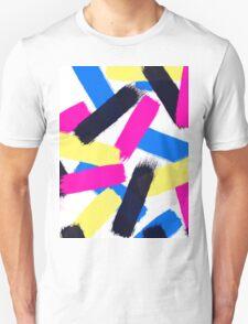 Modern bright abstract brushstrokes paint pattern T-Shirt