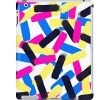 Modern bright abstract brushstrokes paint pattern iPad Case/Skin