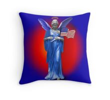 ✌ SAFE BENEATH THE WINGS OF AN ANGEL PILLOW & TOTE BAG TRIBUTE TO U.S.A.PRAY FOR THE U.SA✌ Throw Pillow