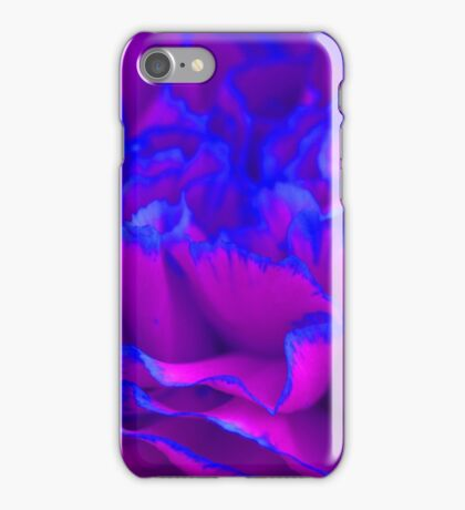 Bold Fuschia Pink and Blue Carnation Flower iPhone Case/Skin
