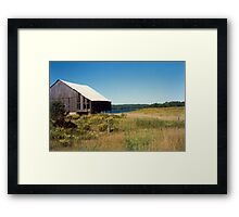 Barn Near Golden Valley, Ontario, Canada Framed Print