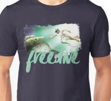 Freediving - Michelangelo's The Creation of Adam  Unisex T-Shirt