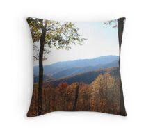 The Great Smokey Mountains in Fall  Throw Pillow