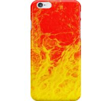 Colourful red and yellow fire water iPhone Case/Skin