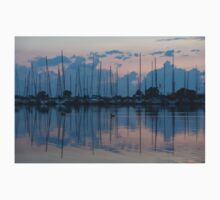 Pink and Blue Peace - Still Sailboat Reflections  Kids Clothes