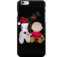 SNOOPY & CHARLIE BROWN FESTIVE CHRISTMAS-JOURNAL.. PICTURE AND OR CARD ECT iPhone Case/Skin