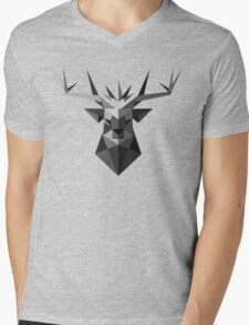 The Crowned Stag Mens V-Neck T-Shirt
