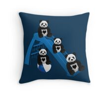 CUTE..PANDAS HAVING FUN..CHILDRENS (KIDS PILLOW-TOTE BAGS ECT) Throw Pillow