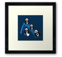 CUTE..PANDAS HAVING FUN..CHILDRENS (KIDS PILLOW-TOTE BAGS ECT) Framed Print