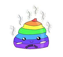 Cute rainbow poop Photographic Print