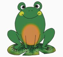 Cute green frog cartoon Kids Clothes