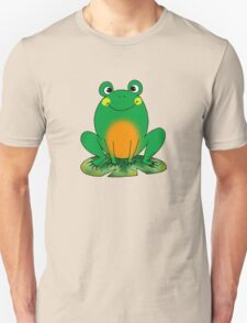 Cute green frog cartoon Unisex T-Shirt