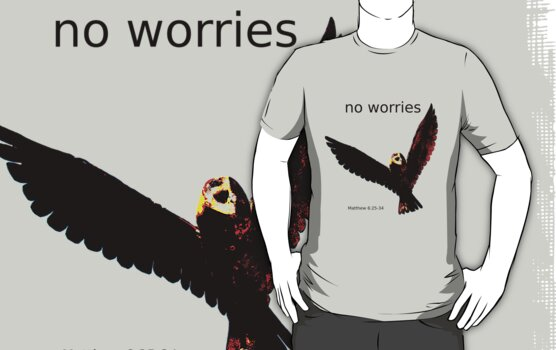 No Worries (Bird Design) by Samantha Higgs