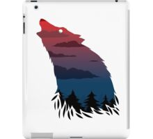 Scary howling wolf iPad Case/Skin