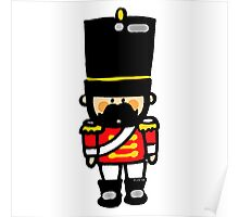 London guard toy soldier with mustache  Poster