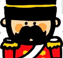 London guard toy soldier with mustache  Sticker