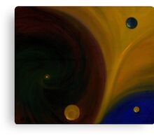 Two Drops in evolution - Stage IV Canvas Print