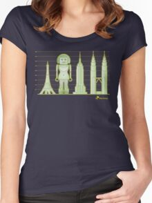 robodoll and skyscrapers Women's Fitted Scoop T-Shirt