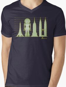 robodoll and skyscrapers Mens V-Neck T-Shirt