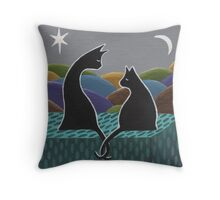 Tails entwined  Throw Pillow