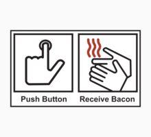 Push button receive bacon Kids Clothes