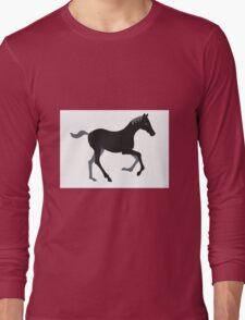 Black Pony Long Sleeve T-Shirt