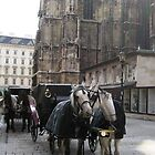 Nuzzling Horses in Vienna by chipster